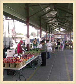 Shoppers at Paterson Farmers Market